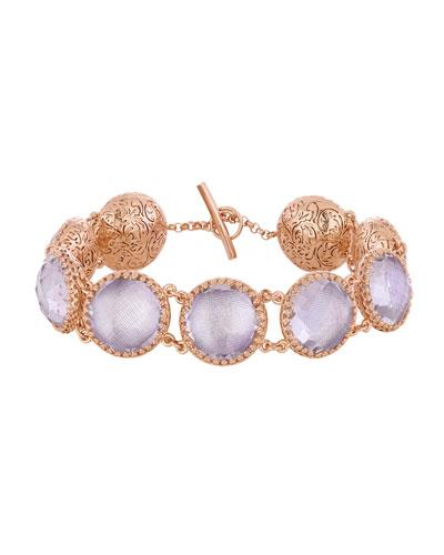 Olivia Button Bracelet in Ballet Foil