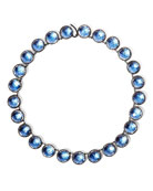 Olivia Button Riviere Necklace in Azure Foil