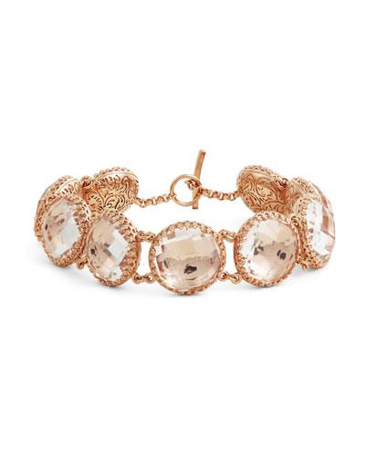 Olivia Button Bracelet in Copper Foil