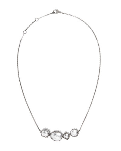 Sadie Four-Station Necklace in White Foil