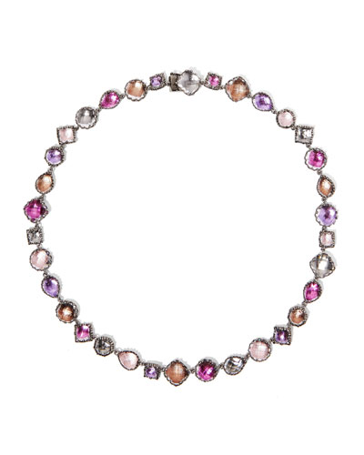 Small Sadie Riviere Necklace in Multi-Sweet Pea Foil