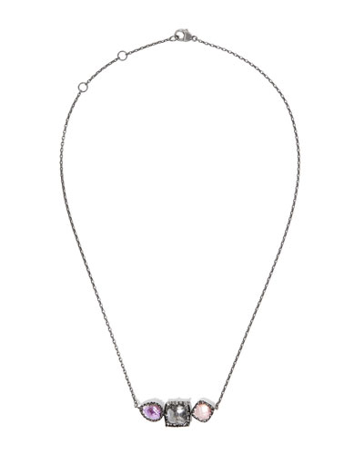 Sadie Three-Station Necklace in Multi-Sweet Pea Foil