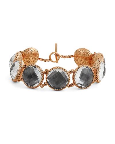 Olivia Button Bracelet in Gray Foil