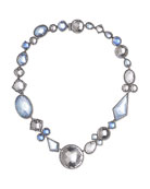 Sadie Bubble Riviere Necklace in Multi-Blue Foil