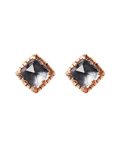 Bella Stud Earrings in Gray Foil