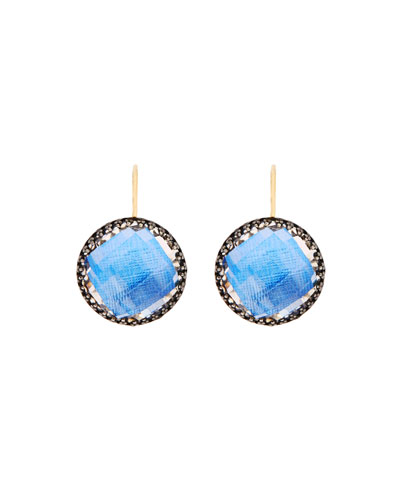Olivia Topaz Drop Earrings with Azure Foil