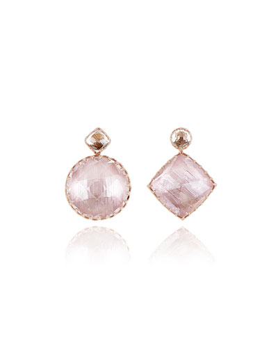 Sadie Drop Earrings in Fawn & Ballet Foil