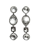 Sadie Four-Drop Earrings in White Foil