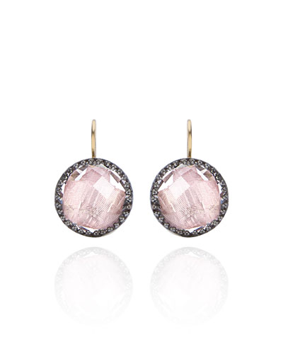 Olivia Topaz Drop Earrings with Ballet Foil