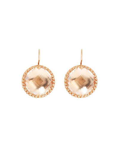Olivia 18K Rose Gold-Washed Earrings in Copper Foil