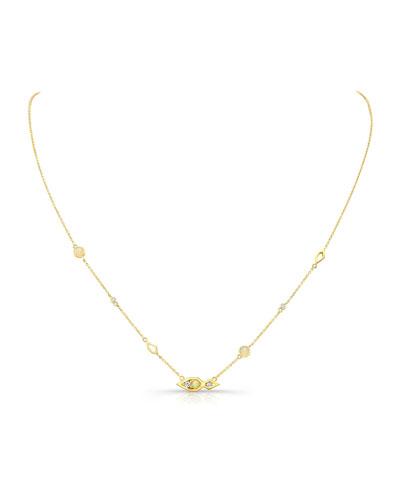 RON HAMI DIAMOND & OPAL PENDANT NECKLACE