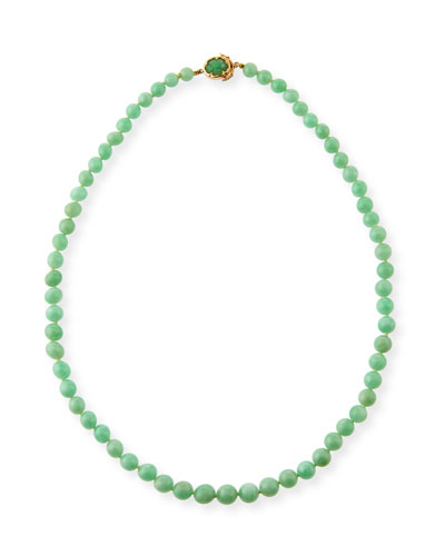 DAVID C.A. LIN GRADUATED GREEN JADEITE BEADED NECKLACE