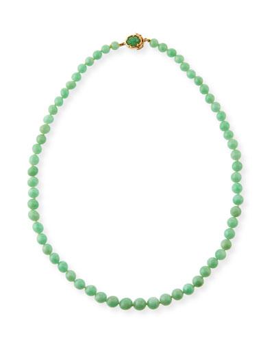 DAVID C.A. LIN Graduated Green Jadeite Beaded Necklace