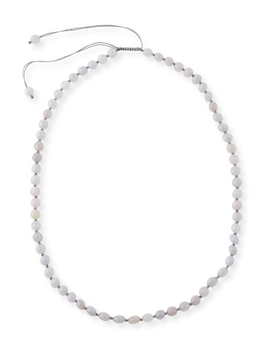 DAVID C.A. LIN BEADED LAVENDER CORD TOGGLE NECKLACE