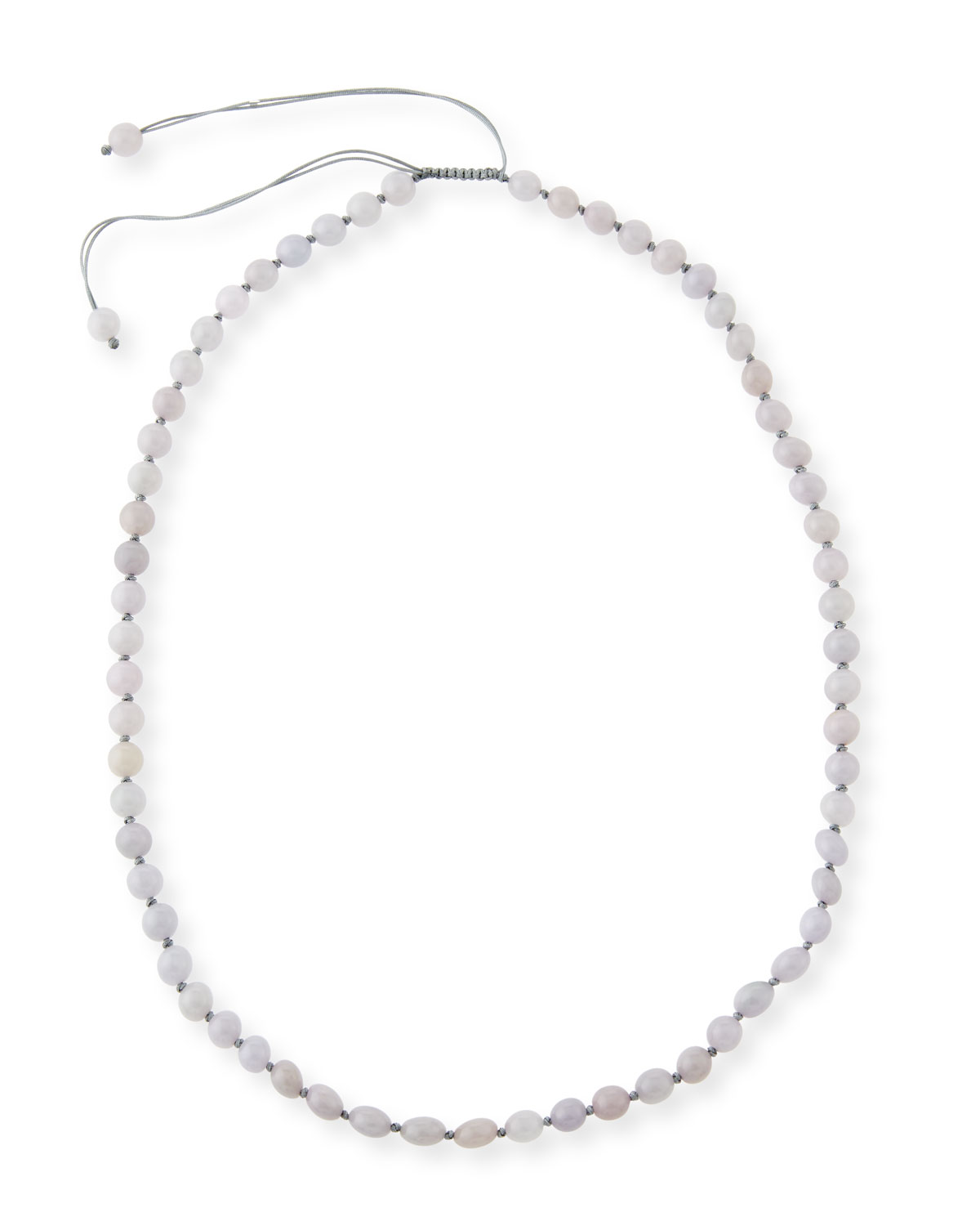 Beaded Lavender Cord Toggle Necklace