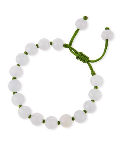 DAVID C.A. LIN Beaded Lavender Jade Bracelet