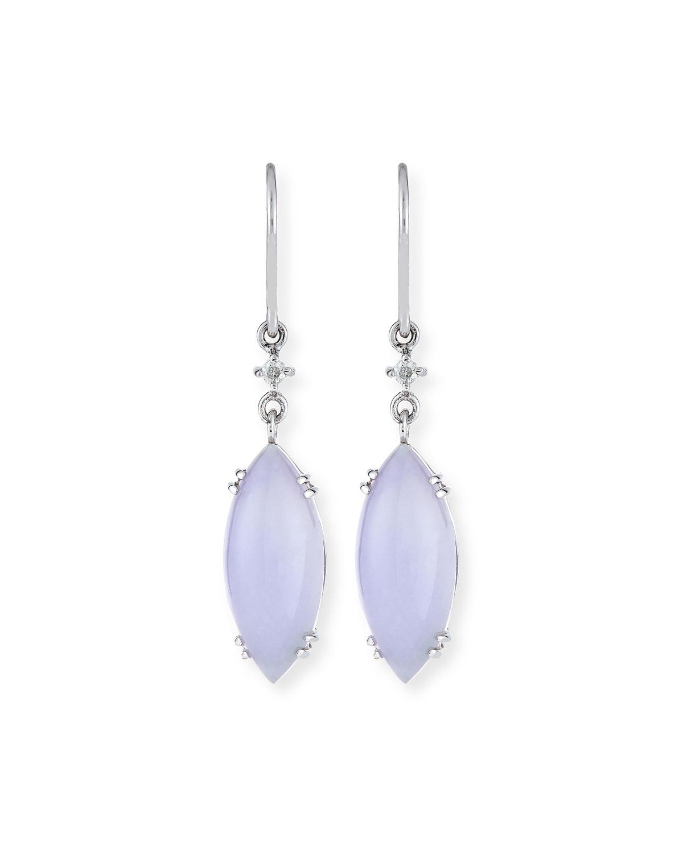 Lavender Jadeite Marquis Drop Earrings