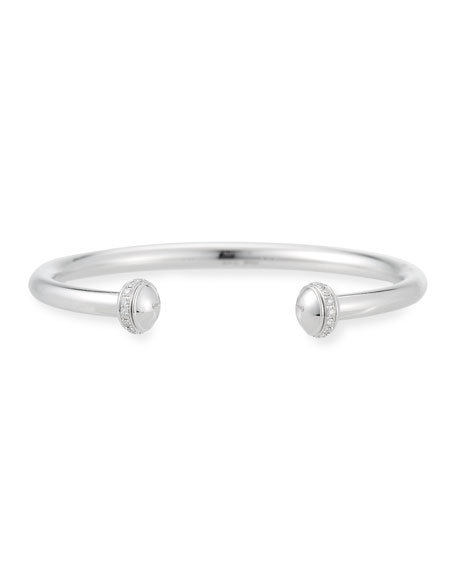 PIAGET Possession Open Cuff Bracelet with Diamonds in 18K White Gold