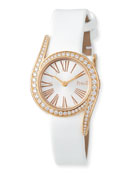Limelight Gala 18k Rose Gold Watch, White