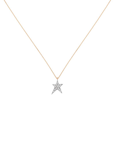 Struck Star 14k Pendant Necklace