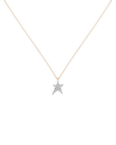 Struck Star 14k Pendant Necklace