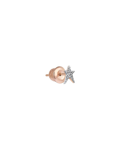 STRUCK STAR 14K DIAMOND SINGLE STUD EARRING