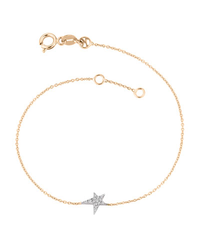 Struck Star 14k Diamond Bracelet