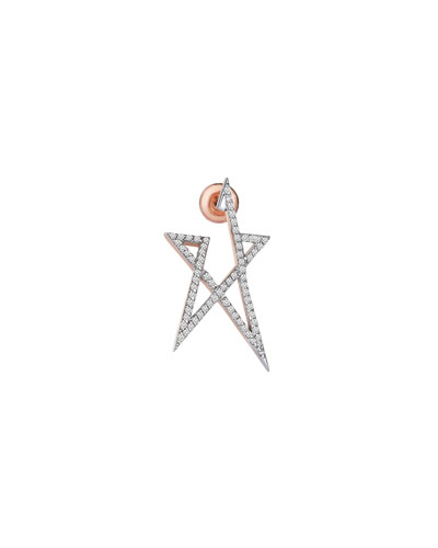 Struck Star Small 14k Doodle Single Stud Earring