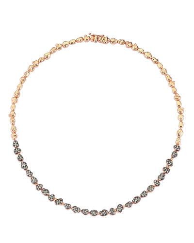 Beyond 14k Diamond Meteorite Necklace