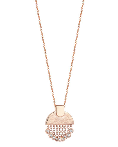 Beyond 14k Diamond Tassel Pendant Necklace