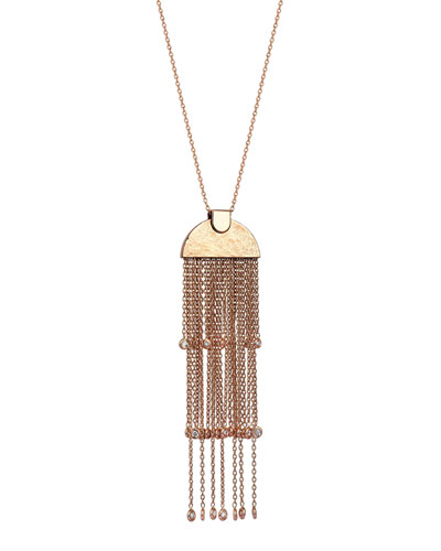Beyond 14k Diamond Le Soleil Tiered Tassel Necklace
