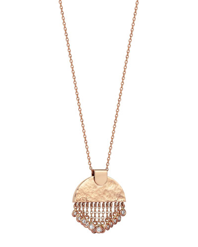 Beyond 14k Diamond Le Soleil Tassel Necklace