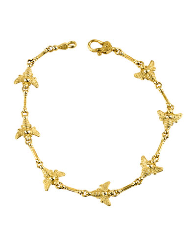 18k Yellow Gold Bee Bracelet