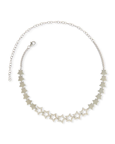 Diamond Star Choker Necklace