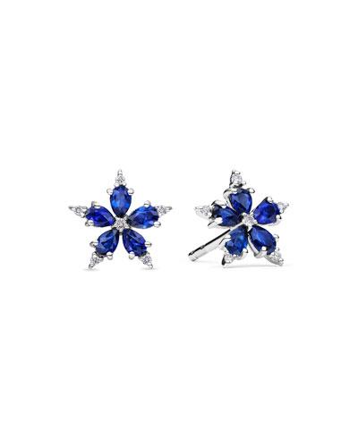 Mini Stellanise Sapphire & Diamond Stud Earrings