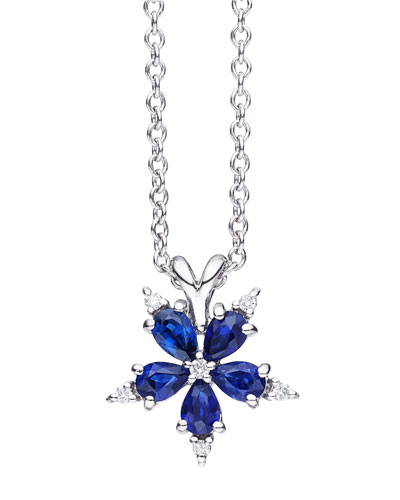 Mini Stellanise Sapphire & Diamond Pendant Necklace
