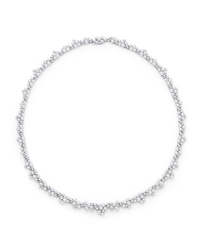 Lagrange Pearl & Diamond Collar Necklace