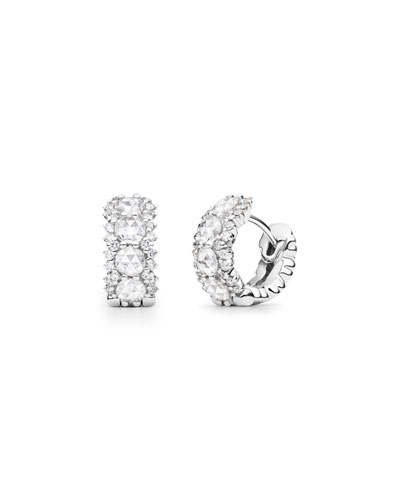 Rose-Cut Diamond Huggie Hoop Earrings