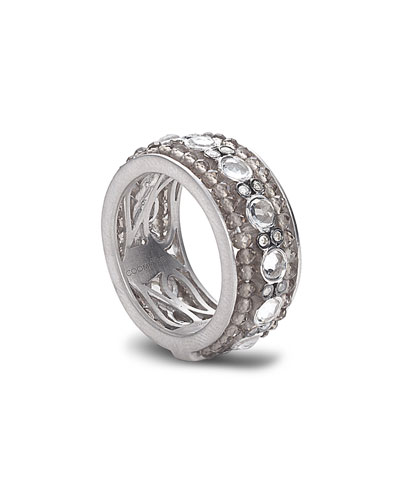 Affinity Smoky Quartz & Diamond Band Ring, Size 7