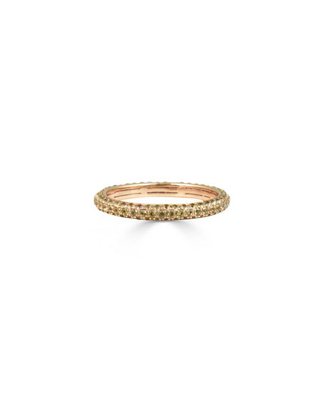 Stevie Wren Yellow Sapphire Band Ring in 14K Rose Gold, Size 7