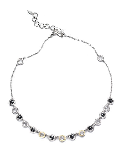 Opera Black Spinel & Diamond Necklace, 16