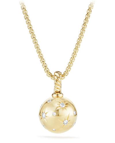 Solari 18k Gold Diamond Pendant Enhancer