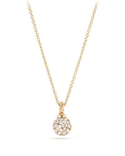 6mm Solari Pave Diamond Pendant Necklace