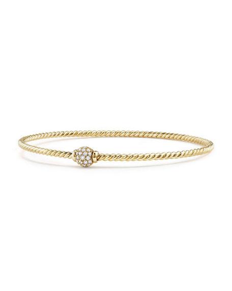 David Yurman Petite Solari Diamond Single Station Bracelet, Size L