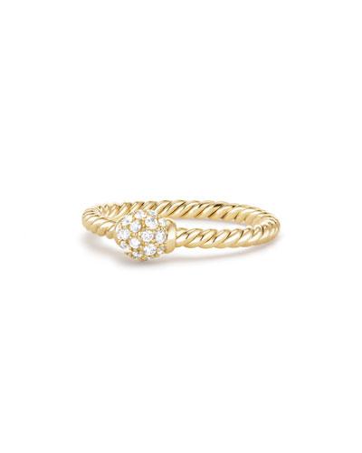 5mm Solari 18K Gold Diamond Station Ring, Size 6