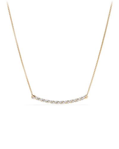 Petite Paveflex 18K Yellow Gold Station Necklace with Diamonds