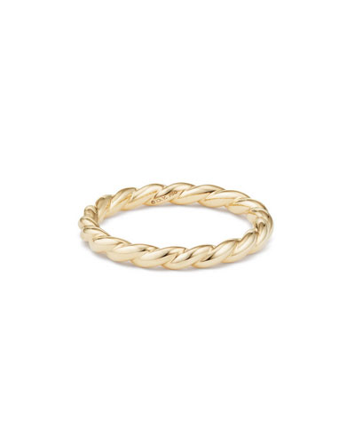 Paveflex 2.7mm Band Ring in 18K Gold, Size 7