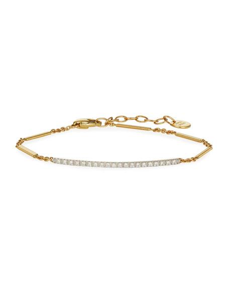 Marco Bicego Goa 18K Hand-Engraved Gold Diamond Bar Bracelet