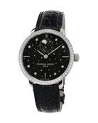 38.8mm Manufacture Slimline Moonphase Watch