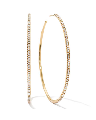 Stardust #4 XL Diamond Hoop Earrings in 18k Gold